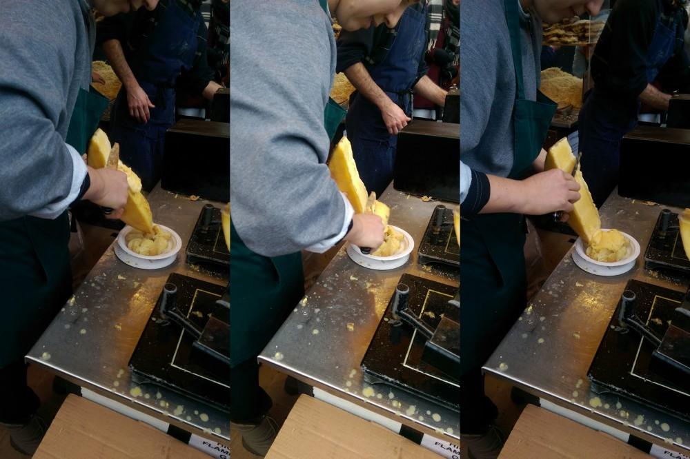 Smeltet oste collage